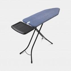Asse da stiro - XL Comfort 124x45 - Portacaldaia Solid, telaio Nero-Denim Blue