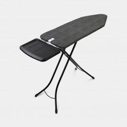 Asse da stiro - XL Comfort 124x45 - Portacaldaia Solid, telaio Nero-Denim Black