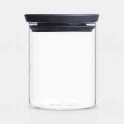 BARATTOLO IMPILABILE 0,6 litri, Vetro - Dark Grey