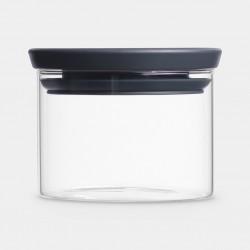BARATTOLO IMPILABILE 0,3 litri, Vetro - Dark Grey