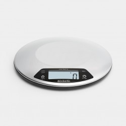 Bilancia da cucina digitale 1gr/5kg – Rotonda con timer cucina-Inox Satinato