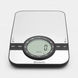 Bilancia da cucina digitale 1gr/5kg – Rettangolare con timer cucina-Inox Satinato