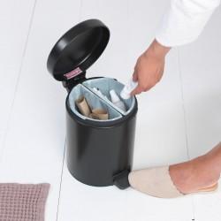 Pedal Bin newIcon Recycle 2 x 2L-Nero Opaco