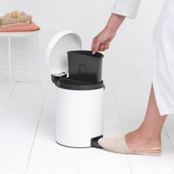 Pedal Bin newIcon Recycle 2 x 2L-Bianco