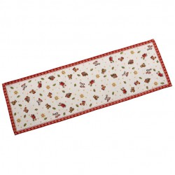 Toy's Delight runner gobelin L, rosso/multicolore, 32 x 96 cm