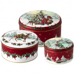 Winter Collage Accessoires Scatola dolci Set 3 19,7x9,4cm