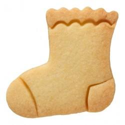 Tagliabiscotti per calzini baby, acciaio inox, con goffratura interna, 5,8 cm