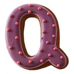 Cookie cutter lettera Q, acciaio inossidabile, 6 cm