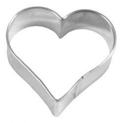 Tagliabiscotti cuore, acciaio inox, 3,5 cm