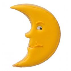 Tagliabiscotti luna, acciaio inox, con goffratura interna, 8 cm