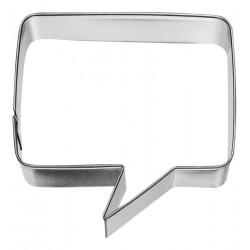Tagliabiscotti per bolle di discorso, quadrato, acciaio inossidabile, 7,1 cm
