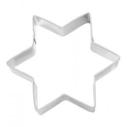 Tagliabiscotti stella, acciaio inox, 8 cm
