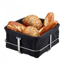 Cestino per il pane BRUNCH Forma quadrata, nero