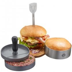 Set per hamburger BBQ, 3 pezzi