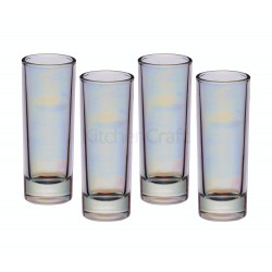 BARCRAFT LUSTRE GLASSWARE, TALL SHOT GLASSES, SET OF FOUR, 60ML, GIFT BOXED