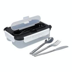Porta pranzo da 1,05 litri con posate in acciaio inossidabile 23,5 cm x 17 cm x 6,5 cm