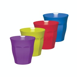 Set 4 Tumblers in Melamine 225ml Colourworks