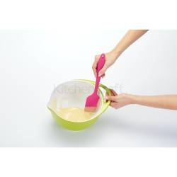 Colourworks Brights 28.5cm Multi-Function Silicone Spatula, Raspberry, Carded