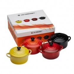 Set 4 Mini cocotte 10 cm. Multicolor Le Creuset