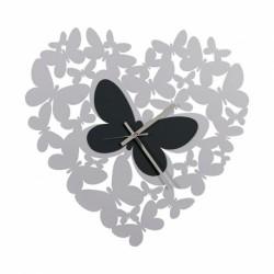 Orologio Cuore Butterfly, Alluminio e Nero - Arti e Mestieri