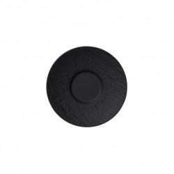 Manufacture Rock piattino per tazzina da espresso, nero/grigio