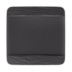 Manufacture Rock piatto piano quadrato, nero/grigio