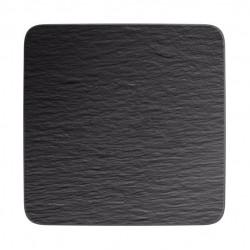 Manufacture Rock piatto da portata/piatto da gourmet quadrato, nero/grigio