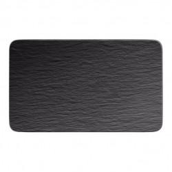 Manufacture Rock piatto multifunzione rettangolare, nero/grigio